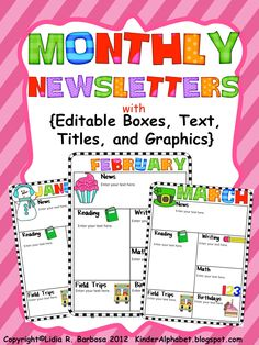 Printable Kindergarten Newsletter Template  Templates