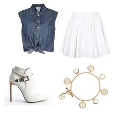 """""""Sin título #155"""" by resentida on Polyvore featuring moda, Jean-Paul Gaultier, Topshop, Yves Saint Laurent y Tory Burch"""
