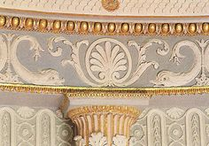 A detail of John Fowler's paint scheme for the Circular Closet, Syon House.  Photo: THE INSPIRATION OF THE PAST.