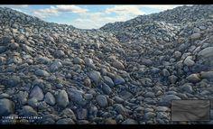 Tiling, scanned river rocks, Krzysztof Teper on ArtStation at…