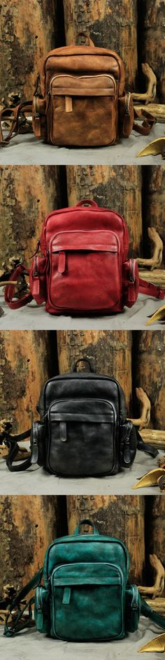 Handmade Leather Backpack Travel Backpack Women Backpack Travel Backpack, Backpack Bags, Leather Craft, Handmade Leather, Everyday Bag, Beautiful Shoes, Messenger Bag, Cool Designs, Satchel