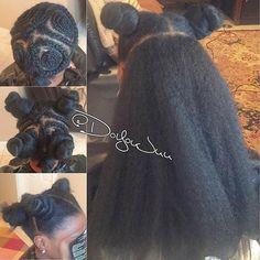 #mulpix Repost from @doyoujuu Vixen Crochet braids || Super versatile & can…