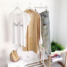 SIMPLE TEE WHITE I MONASHE.PL - Sklep internetowy z modna odzieza.