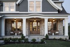 Experience our outstanding 2019 Artisan Home in Shorewood, MN. This Nantucket-inspired home is located just moments from the shores of Lake Minnetonka. Cottage Exterior, House Paint Exterior, Exterior House Colors, Exterior Design, Southern Living House Plans, New House Plans, Dream House Plans, Craftsman Home Decor, Craftsman Porch