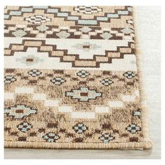 Rug from Veranda collection. Coordinate indoor and outdoor spaces with pretty and practical area rugs from the Veranda collection in designs from mod florals to traditional classics. Chevron Tile, Construction Crafts, Red Chocolate, Polypropylene Rugs, Indoor Outdoor Area Rugs, Accent Rugs, Rug Material, Tile Patterns, Rug Making