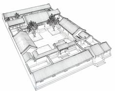"""Chinese traditional courtyard house: siheyuan. """"La Rédaction"""" at http://www.chine-informations.com/guide/siheyuan_4270.html"""