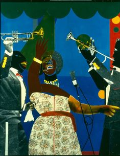 making connections between music and art -romare bearden African American Artist, American Artists, African Art, Op Art, Romare Bearden, Jazz Art, Arts Ed, Black Artists, Art Music
