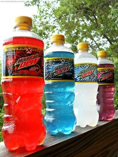(4) mountain dew | Tumblr Kid Drinks, Alcoholic Drinks, Beverages, Custard Cream Cupcakes, Mountain Dew Cupcakes, Mnt Dew, Carbonated Soft Drinks, Soda Drink, Junk Food Snacks