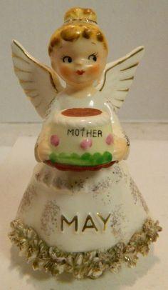 Vintage Norcrest Japan May Mother's Day Angel Figurine