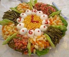 Délicieux Moroccan Salad, Party Platters, Bon Appetit, Food Art, Cobb Salad, Food And Drink, Cooking, Breakfast, Desserts