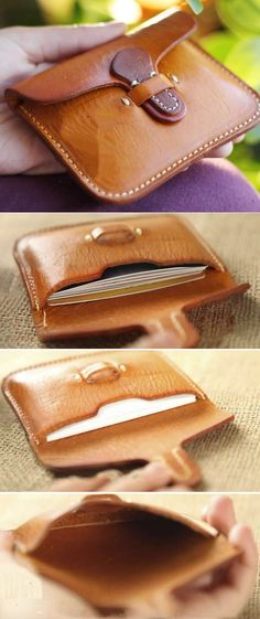 Handmade Leather Business Name Card Credit Card Holder Case