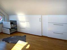 Bilderesultat for lagring under trapper Loft Storage, Drive Storage, Buying A New Home, Under Stairs, Walk In Closet, Modern Kitchen Design, Little Houses, New Room, New Homes