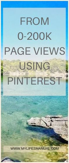 Learn how to increase your page views from 0-200K per month without a scheduler. #makemoneyonline #Pinterest #blogging
