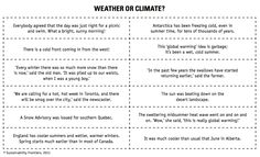 Weather makes a climate worksheet | Weather unit | Pinterest ...
