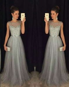 Tulle grey dress