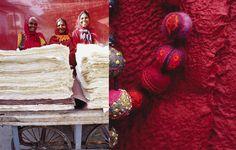 orange-pink-between-colors-paper-felt-red by Valerie Barkowski Photos : Francesca Torre