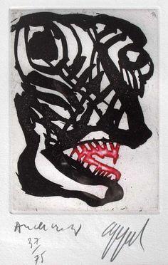 """Karel Appel and Pierre Alechinsky """"suite à deux"""" 1978 color etching. Art Et Illustration, Illustrations, Relationship Drawings, Art Informel, Art Pierre, Art Brut, Dutch Painters, Dutch Artists, Outsider Art"""
