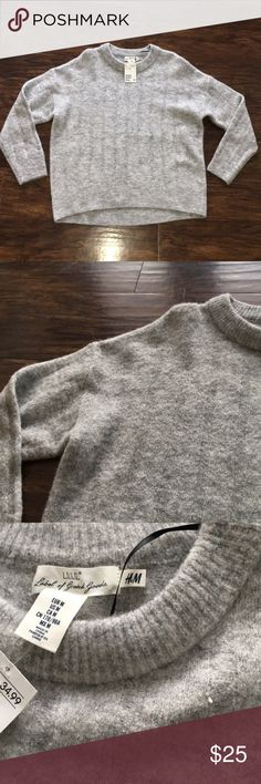 H&M Grey Sweater H&M Grey Sweater - Brand New With Tags - Grey - Light Weight H&M Sweaters Crew & Scoop Necks