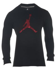 NIKE [574146-010] Air Jordan Jordan Jumpman Crew Apparel Apparel Blk/Red. #nike #cloth #