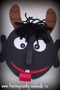 Mami, on se na mě vyplazuje! Christmas Crafts For Kids, Christmas Colors, Handmade Christmas, Christmas Decorations, Carnival Activities, Craft Activities, Projects For Kids, Diy For Kids, January Art