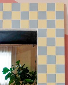 I got this big mirror on Facebook Marketplace, but it was a little stained and outdated so I thought I could give it an upgrade. I have been loving this tile trend that has been surfing around TikTok so I wanted to give my own spin on it. Here's how I did it! The Sorry Girls, 50s Diner, Checker Print, Mirror Tiles, Stuff To Do, Give It To Me, Diy Projects, Spin, Diys