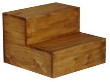 Honey Rustic, Western Bed Side Step Stool, Steps, Real Wood, Fress Shipping!