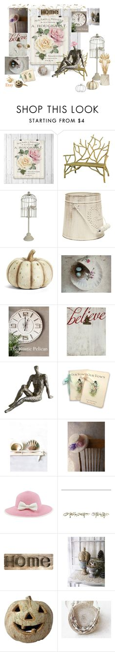 """""""Rustic and Shabby"""" by vualia ❤ liked on Polyvore featuring interior, interiors, interior design, home, home decor, interior decorating, Universal Lighting and Decor, K&K Interiors, New View and Cyan Design"""