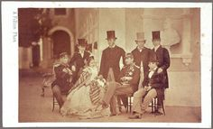 Portuguese Royal Family and Princes HOHENZOLLERN-SIGMARINGEN - A. Fillon  Lisbon, 1861  [National Palace of Ajuda]