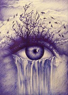 111 Insanely Creative Cool Things to Draw Today Dark Art Drawings, Pencil Art Drawings, Realistic Drawings, Art Drawings Sketches, Cool Drawings, Unique Drawings, Fantasy Kunst, Fantasy Art, Eyes Artwork