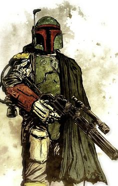 Star Wars Boba Fett Art by Tristan Jones