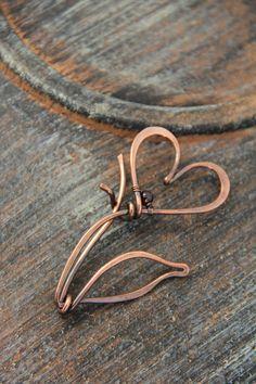 Shawl pin scarf pin sweater pin brooch copper by Keepandcherish