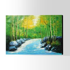 Oil Painting Oil Painting On Canvas, Hand Painted, Landscape, Artwork, Scenery, Work Of Art, Landscape Paintings, Corner Landscaping