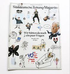Illustrations for Süddeutsche Zeitung number 52 by Serge bloch. Illustrations de Serge Bloch pour le numéro 52 du magazine allemand Süddeutsche Zeitung.