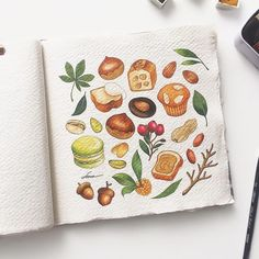 Watercolor Pencil Art, Watercolor Illustration, Watercolor Paintings, Fruit Painting, Cute Drawings, Doodle Art, Cute Art, Art Inspo, Painting & Drawing