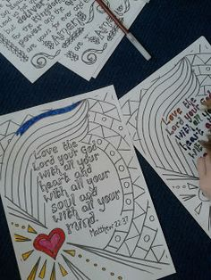 As we've tried each term, we took a box of prayer stations with us and put them out around the room and the children could choose where to g...