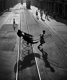 Streets of Hong Kong in the 50s