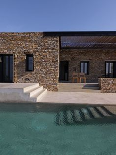Patio and pool stairs