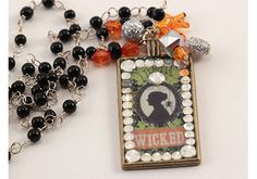 DIY Wicked Halloween Necklace with Mod Podge