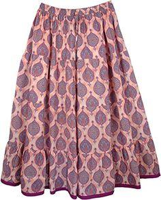 "TLB - Long Plus Size Summer Tapestry Skirt - L:39"" - 40"""