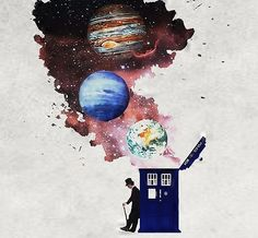 Image result for doctor who tardis fan art