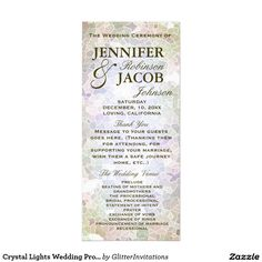 Crystal Lights Wedding Program
