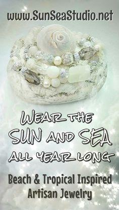 Sun Sea Studio Artisan Crystal Beach White Pearl Bracelets. $17 Each.  Beach Chic Bracelet Boho Chic Bracelet White Chunky Bead Bracelet Artisan Bracelet Crystal Bead Stretch Bracelet  Bohemian Bracelet Beach Jewelry Crystal Jewelry Sparkly Jewelry, Crystal Jewelry, Crystal Beads, Pearl Bracelets, Bohemian Bracelets, Ocean Jewelry, Beach Jewelry, Chunky Beads, Art Deco Earrings