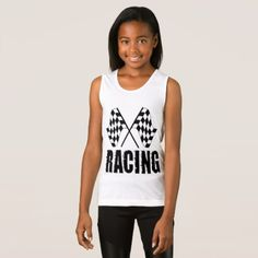 Two checkered racing flags for the competition win tank top - tap to personalize and get yours. t shirts come in many styles and colors for men women boys and girls. !#checkeredflag #competitionwinner #racingflag #HilariousPictures