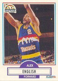 Set of (3) Fleer Denver Nuggets Basketball Team Sets . . . 1990-91, 1992-93, 1994-95 . . . Featuring Alex English *** Click on the image for additional details.