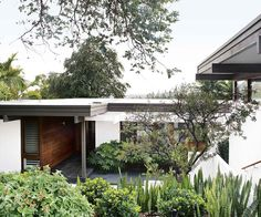 The clean lines and angles of a mid-century home inspire the considered planting of its tranquil Japanese-style garden. House Landscape, Landscape Design, Modern Japanese Garden, Japanese Style, Mid Century Modern Landscaping, Australian Garden, Mid Century House, Back Gardens, Mid-century Modern