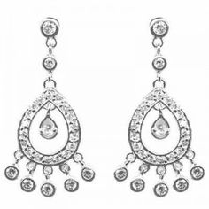 Indian Princess Simulated Diamond CZ Chandelier Earrings  #CartsOnFire #shopwithapurpose