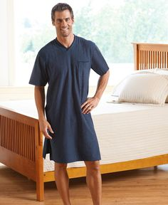 P This Short Sleeve 100% Cotton Knit Nightshirt is made by Jockey. 39029374b