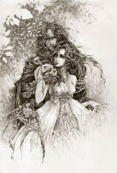 fantasy, art, maiden,love, medieval - Sibylla-Maxim by *Merinx on deviantART