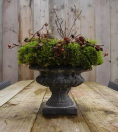 .Great winter filled urn