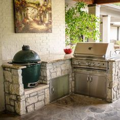 Big Green Egg Design Ideas, Pictures, Remodel and Decor